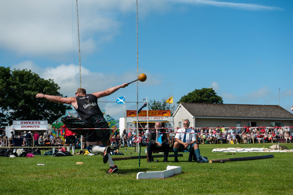 Hammer throwing at Halkirk Games