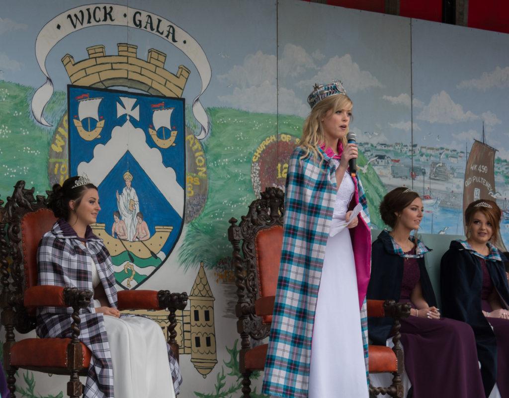 Gala Queen doing a speech