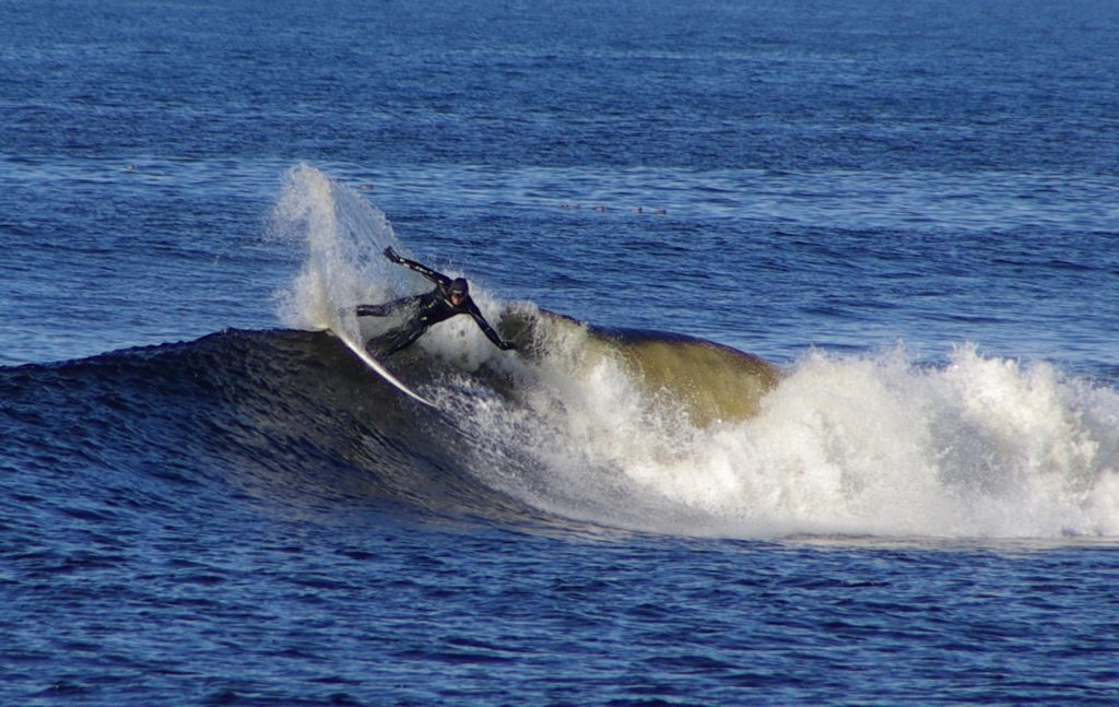Man surfing on a wave