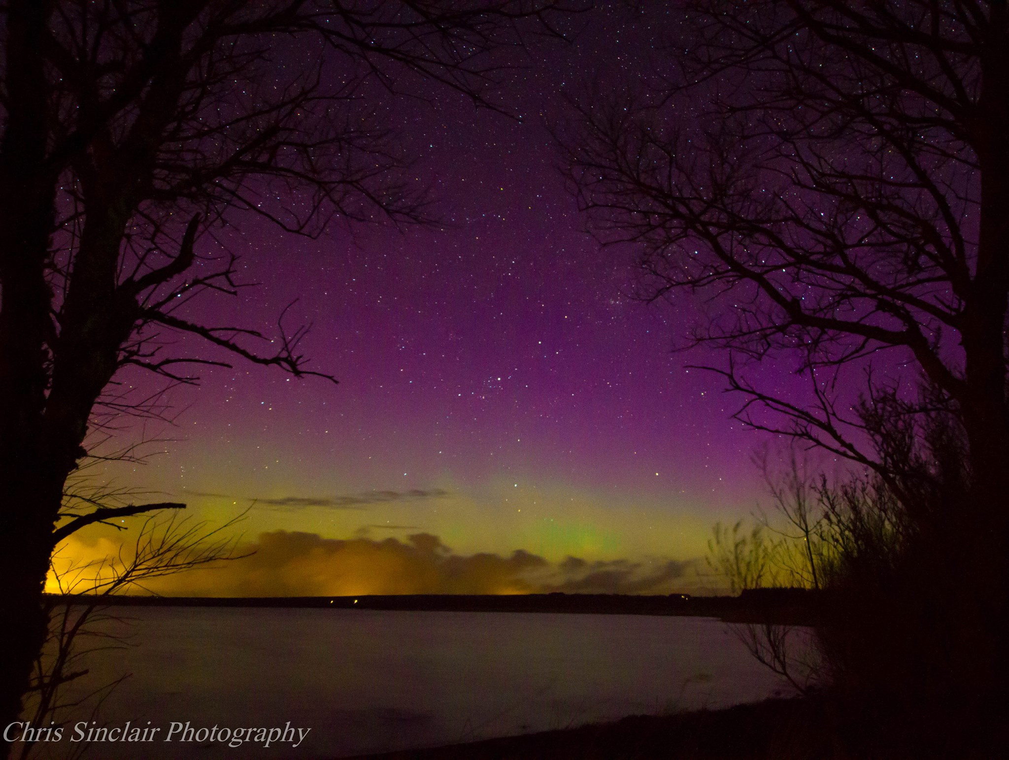 Spectacular shows of the Northern Lights in the highlands