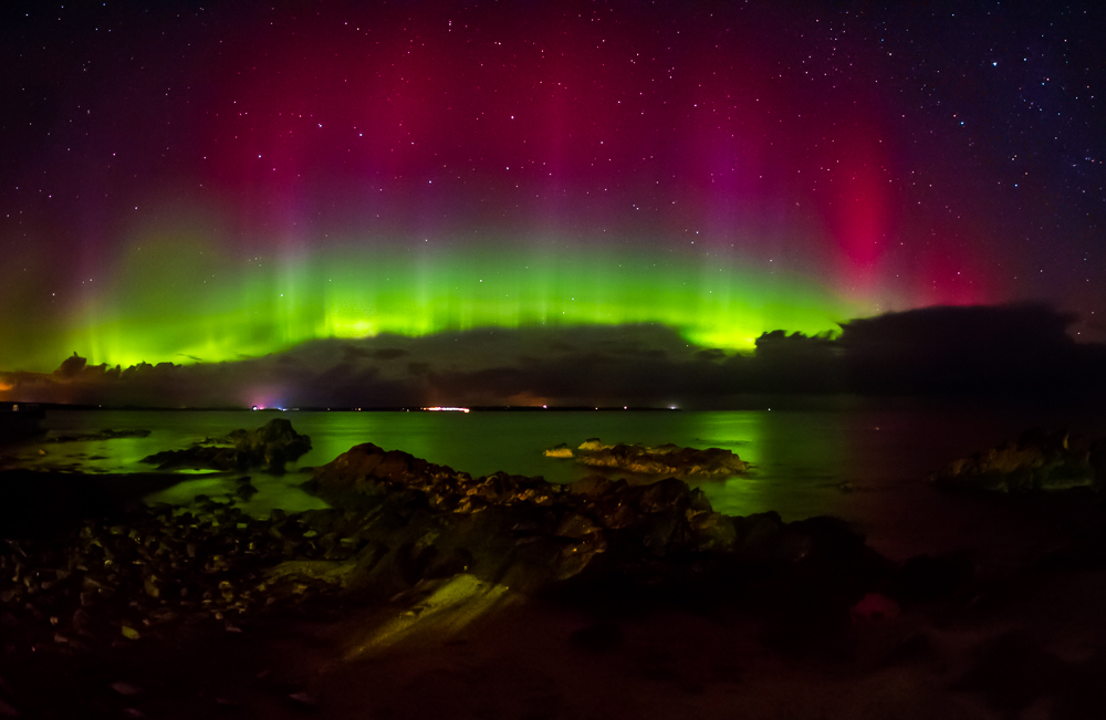 Aurora over Sinclair's Bay