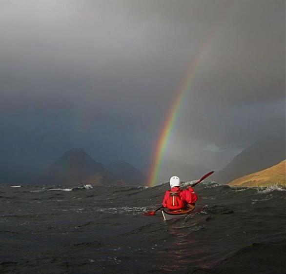 Kayaking in Autumn in teh North Highlands